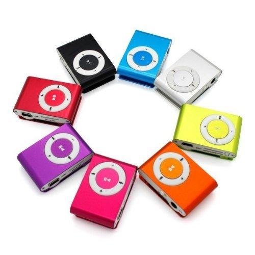 32GB Mini Mp3 Player Music Mover mit LCD Display Aluminium Clip Funktion DE