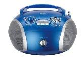 Grundig RCD 1445 Radio (USB 2.0) mit CD/-MP3/-WMA Wiedergabe blau/silber<