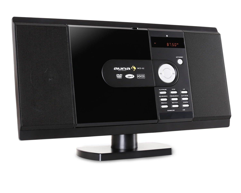 auna mcd 82 design stereoanlage kompaktanlage mit dvd. Black Bedroom Furniture Sets. Home Design Ideas
