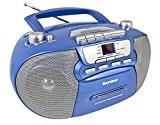"""Karcher RR 5040 Oberon tragbares CD-Radio (AM/FM-Radio, CD, Kassette, AUX-In, Netz/Batteriebetrieb) blau-metallic<ul><li>tragbare Boombox mit Kassettendeck, AUX-Eingang, AM/FM-Radio und CD-Player</li><li>Netz- oder Batteriebetrieb möglich – mit nur sechs one,5V-Batterien der Größe UM-1/D (nicht im Lieferumfang) und dank des praktischen Tragegriffs kann das CD-Radio im Garten, beim nächsten Picknick, beim Camping oder unterwegs genutzt werden</li><li>Top-Loading CD-Player spielt neben Audio-CDs auch CD-R und CD-RW / Kassettendeck mit Vehicle-Stopp und Soft-Eject</li><li>Über den AUX-Eingang können Sie mit einem AUX- bzw. Klinkenkabel (nicht im Lieferumfang) weitere externe Audioquellen anschließen, wie z.B. Ihr Smartphone, Tablet, Mobiltelefon, MP3-Participant u.v.m.</li><li>Lieferumfang:Karcher RR 5040 """"Oberon"""" (blau-metallic) Boombox, Netzkabel, Bedienungsanleitung</li></ul><p>Karcher Audio RR 5040-C Oberon</p><p><div style="""