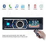 Kingtoys®1 DIN MP3-Autoradio digital Media Receiver mit Apple iPod/iPhone Control Funktion(Bluetooth,4x 60Watt,USB,Aux-Eingang,SD-Speicher) (KT-6203 Updated Schwarz)