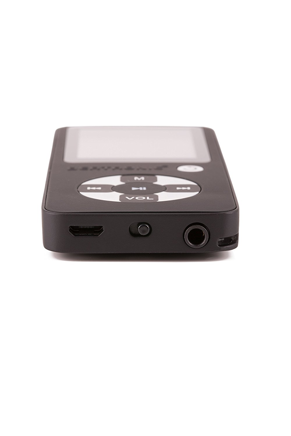 Portable music player with stereo mini speaker