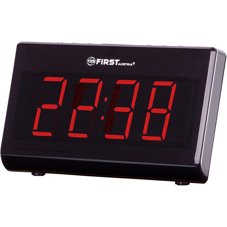 PEYOU Projektionswecker, 7'' LED FM Radiowecker mit Projektion, Temperatur und Luftfeuchtigkeit, Wecker Digital, Reisewecker, Tischuhr, Dual-Alarm, 4 Helligkeit, 9 ' Snooze, Kuckucksuhren