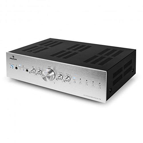 AUNA AV2-CD509 - HiFi-CD-Player, MP3-Player, Radioreceiver, 40 Senderspeicher, USB-Port, optischer Ausgang, koaxialer Ausgang, Line-Ausgang, Fernbedienung, schwarz