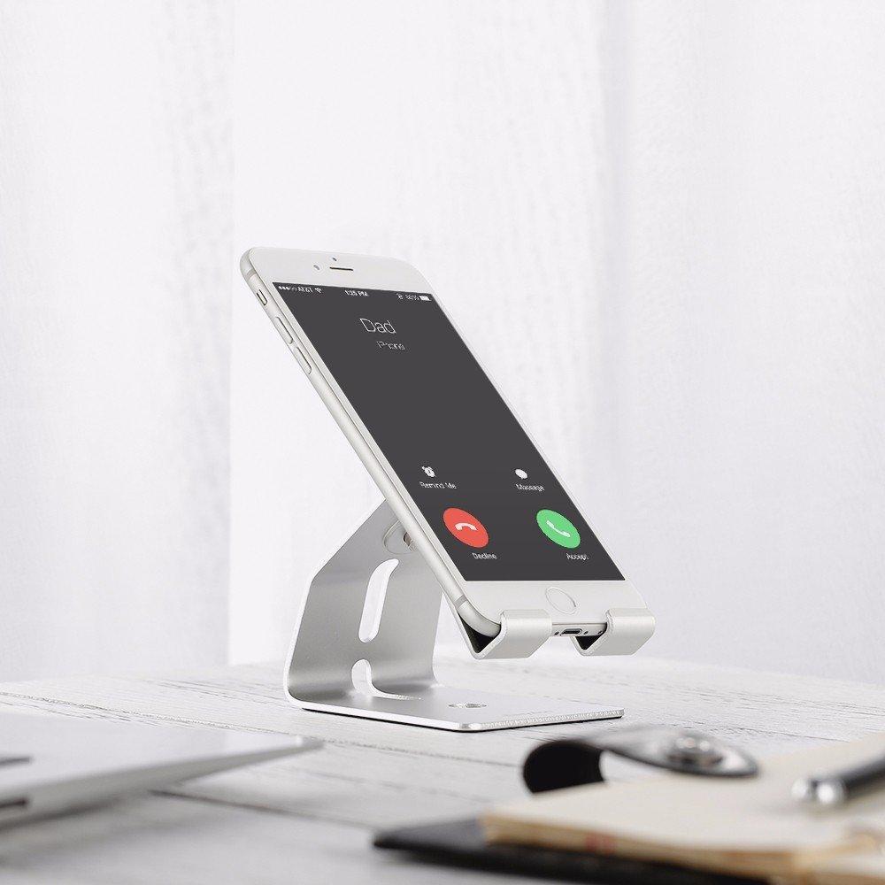 Handy Halterung, EasyAcc iPhone iWatch Dock handyhalterung handy Tablet Aluminium Hater für iphone 7s 8,Samgung s8 s7 plus note 8 und alle Tablets eBook-Reader handy Zubehör,Schreibtisch,Smartphone 4-10.1Zoll