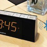iTOMA Bluetooth mit Radio Wecker, Digital FM Radio, Dual Alarm mit Snooze, Dimmer Control, Sleep Timer, USB Ladeanschluss, Auxiliary Input, Backup Akku (CKS503BT)