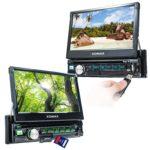 XOMAX XM-D710 Autoradio mit Android App Control, 18 cm (7 Zoll) Touchscreen Bildschirm, Bluetooth Freisprecheinrichtung, DVD und CD-Player, USB SD, RDS, AUX, Beleuchtungsfarbe frei einstellbar, 1-DIN