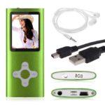 Amison 8GB Schlank digitale MP4 Player 1.8inch LCD Bildschirm FM Radio Video Games Film (Grün)