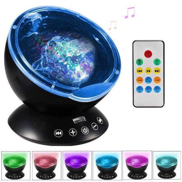Ghope Player und Nachttischlampe