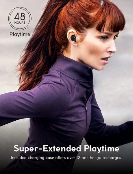 Bluetooth Kopfhörer 4.1 Arbily Best Wireless In-Ear Sport Kopfhörer für Laufen, wasserfest In-Ear Stereo Ohrhörerb mit noise cancelling, Wireless headset mit Mikrofon Für iOS, Android, iPad, Smartphones(Black)