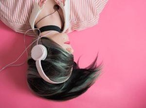 Musikhören mit Headphones