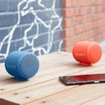 Sony SRS-XB10 Tragbarer kabelloser Lautsprecher (Bluetooth, NFC, Extra Bass, wasserabweisend, 16 Stunden Akkulaufzeit) rot