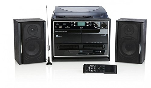 Kompaktanlage DAB+ mit Plattenspieler Radio Kassette
