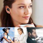 Mini Bluetooth Kopfhörer, Bluetooth Kopfhörer 4.2 Kabellose Kopfhörer IPX5 wasserfest Magnetverschluss, kompatibel mit iPhone, Samsung, Sony, HTC, Android- und iOS-Smartphone (schwarz)