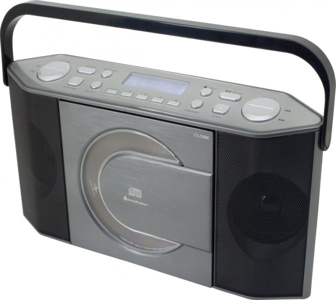 Metronic 477133 Radio CD MP3 Boombox Juicy Weiß/Orange