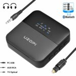 BOIROS Bluetooth Adapter Audio 5.0 – Transmitter und Empfänger 2 in 1 Sender Receiver mit Optischem Toslink/SPDIF, aptX HD und aptX LL, HiFi Splitter für TV Kopfhörer Regal-Lautsprecher und Autoradio