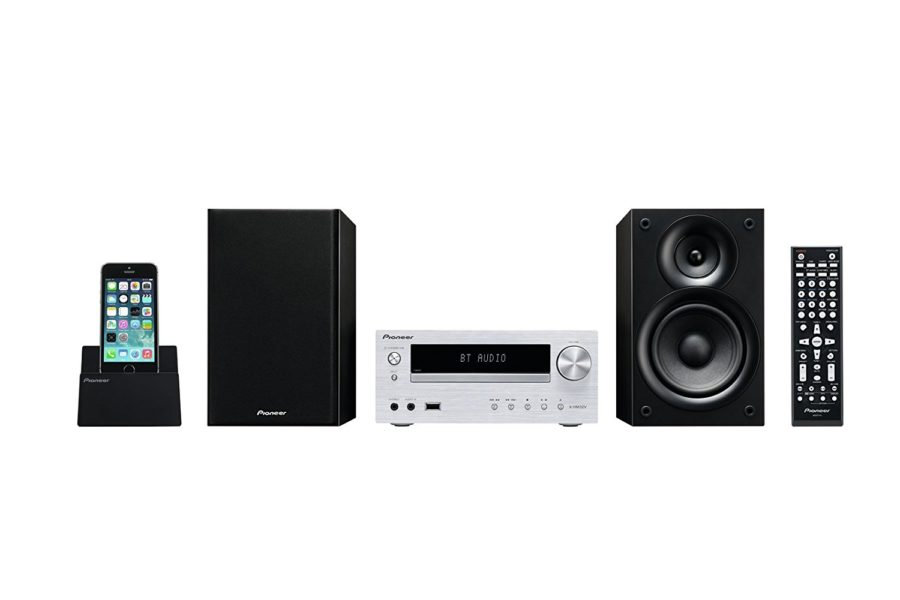 Pioneer X-HM32V Hifi-Micro-System (DVD/CD-Player, Lautsprecher, Bluetooth