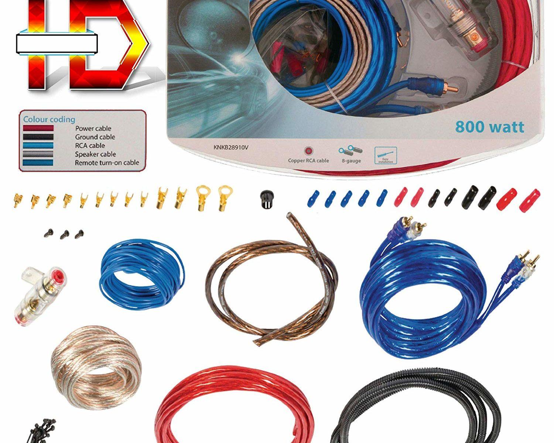TronicXL 800W Highend CAR HiFi Kabel Set Verstärker Endstufe Anschlusskabel KFZ