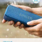 Anker SoundCore 2 Bluetooth Lautsprecher mit Dual-Treiber besserem Bass, 24 St Spielzeit, 20 M Reichweite, IPX5 Wasserfest mit Eingebauten Mikrofon (Blau)