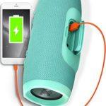 JBL Charge 3 Tragbarer Bluetooth-Lautsprecher (wasserdicht, mit 6000 mAh Power Bank und Freisprechfunktion) türkis
