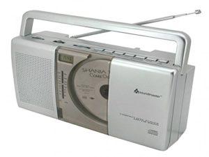 Soundmaster UKW Kofferradio mit CD-Spieler und Uhr