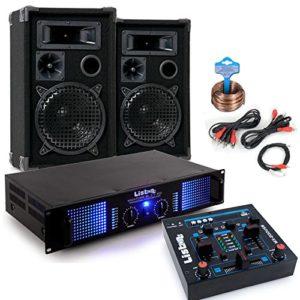 2400 Watt PA Kompakt Musik Anlage mit Verstärker und Boxen