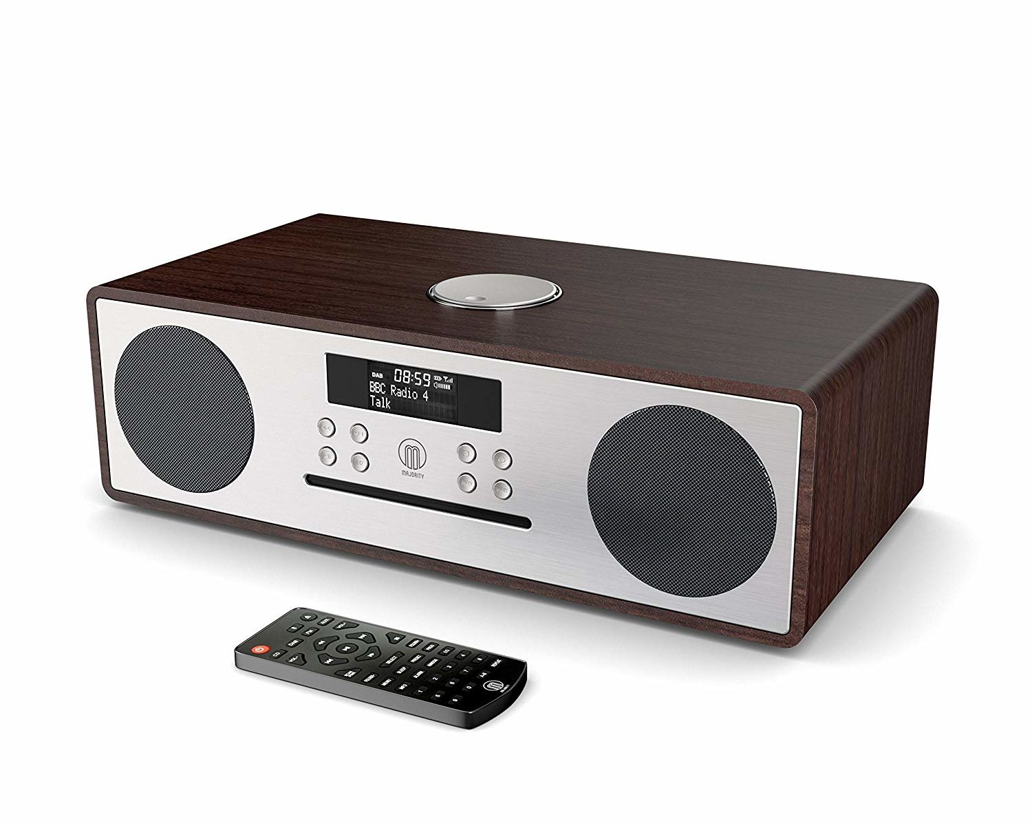 Majority Oakington DAB/DAB+ Digitales Radio, CD-Player, Bluetooth, Stereo-Lautsprechersystem
