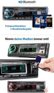 Autoradio mit Bluetooth Freisprecheinrichtung und USB